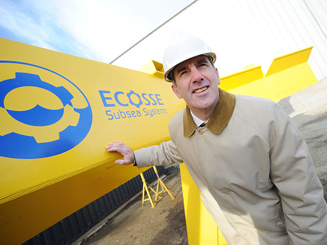 BRIGHT FUTURE: Mike Wilson, managing director of Ecosse Subsea Systems, says its success with EnBW Baltic 2 bodes well for the firm