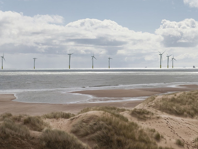 Photomontage of Vattenfall's proposed offshore wind development near Aberdeen