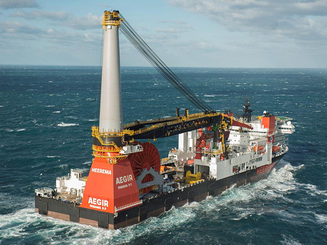 Subsea construction ship Aegir