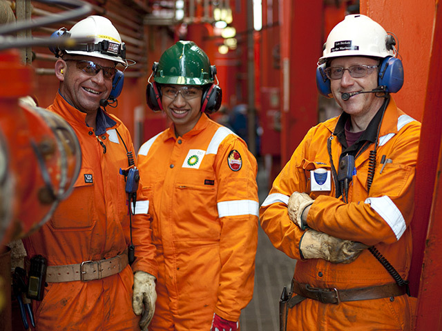 BP staff on the company's key Foinaven asset, West of Shetland