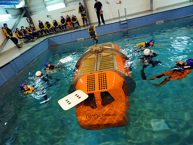 Everyone who wants to work offshore has to go through survival training. Pic: Kami Thomson