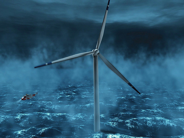 Artist's impression of the Hywind turbine