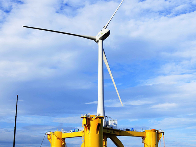 Shell and Innogy will develop a floating wind test turbine.