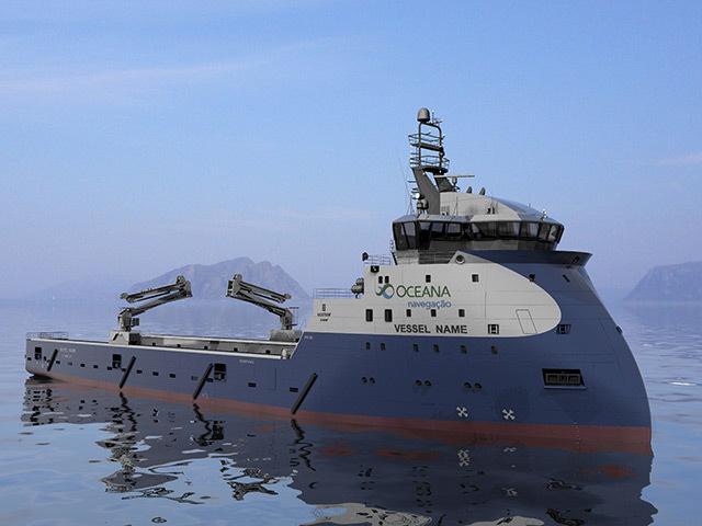 Oceana of Brazil has chosen to build a batch of Ulstein PX105 supply vessels