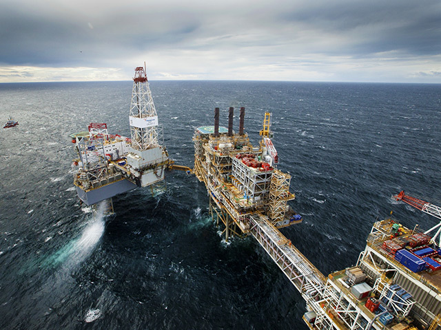 The Buzzard North Sea platform