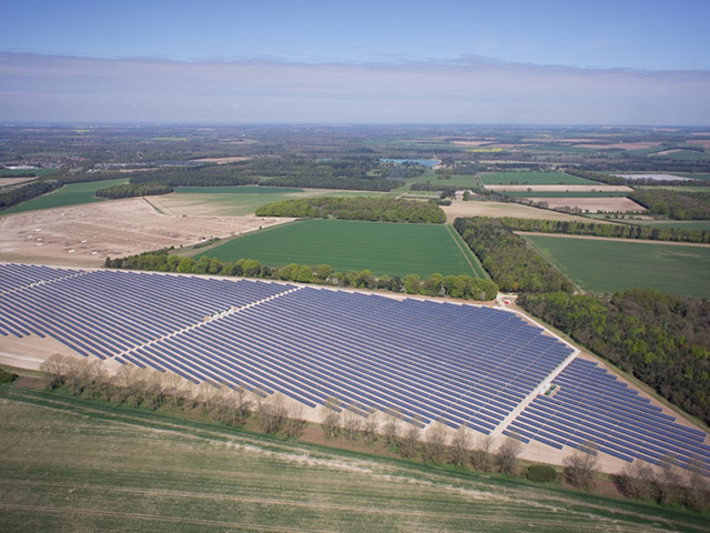 The 11MW Burntstalks solar farm in Norfolk.