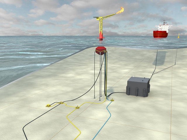 Enegi's unmanned buoy system mock-up for the Fyne field