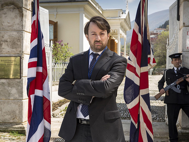 David Mitchell in BBC comedy Ambassadors