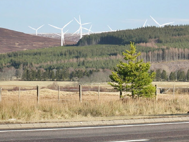The Moy windfarm