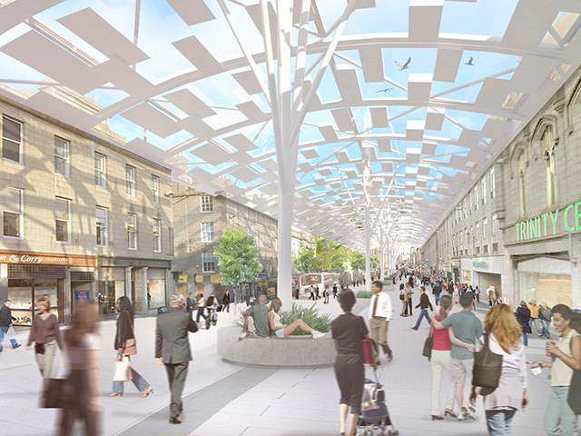 How the proposed canopy would look over Union Street