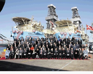 The double christening  of  Maersk Valiant and Maersk Venturer