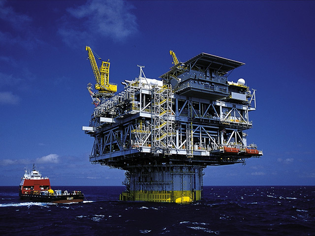 A file photo of an oil rig