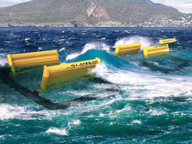 Langlee wave power converters are to be built in and installed offshore the Canary Islands
