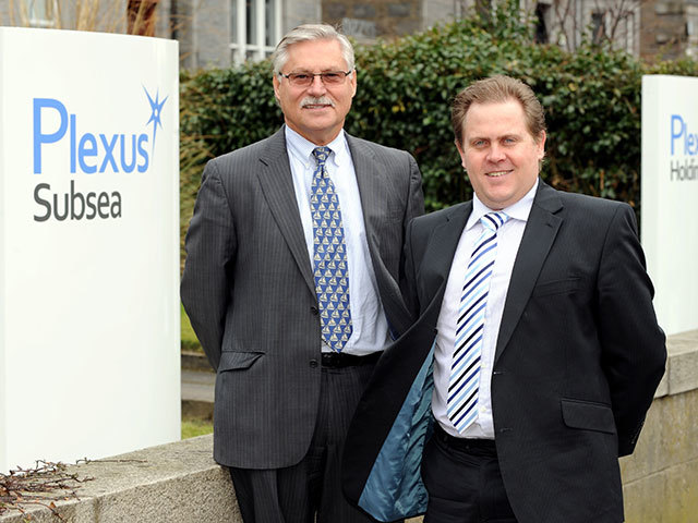 Plexus CEO  Ben   Van   Bilderbeek  and technical director, Craig Hendrie, at their offices on Carden Place, Aberdeen