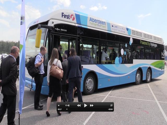 Hydrogen buses in Aberdeen
