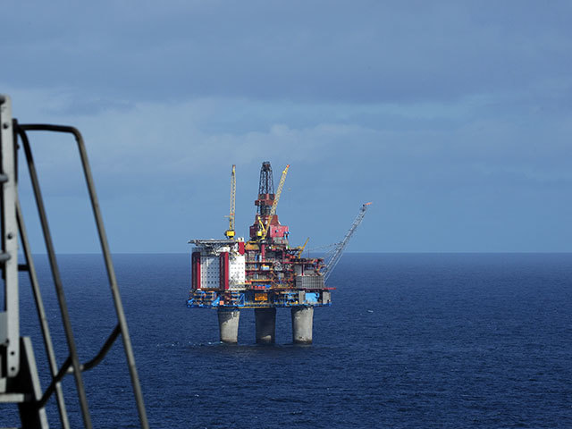 The Gullfaks B platform in the Norwegian North Sea