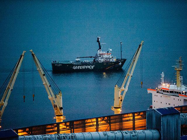 Greenpeace ship Arctic Sunrise departs Murmansk. Photo by Greenpeace