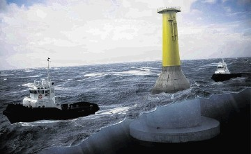 A prototype Norwegian-designed concrete gravity offshore wind turbine foundation is to be installed in French waters