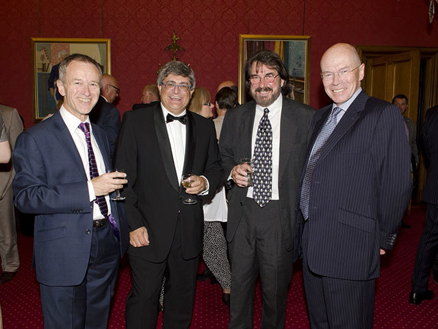From left: Mike Tholen, Martin Bachmann , Astley Hastings, Paul Warwick at Offshore Europe 2013