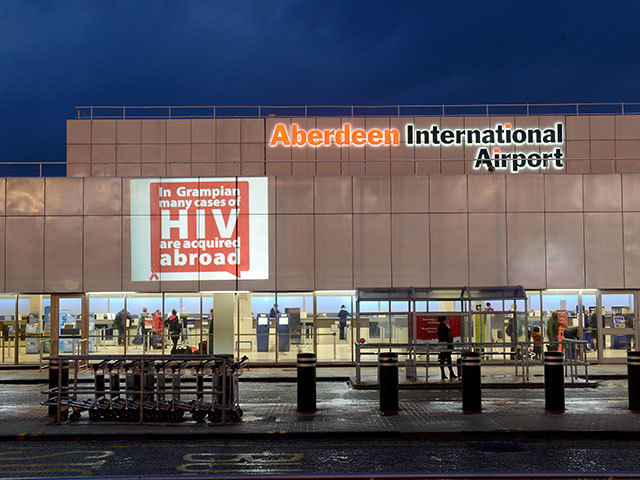 NHS Grampian ran an awareness raising campaign at Aberdeen Airport last December, which included the groundbreaking use of a giant projection on the airport front reminding travellers of the risks.