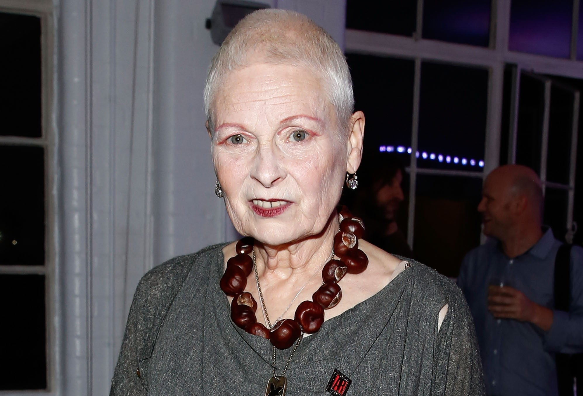 Vivienne Westwood at the solar powered party. Photo by Dave Bennett at the Off the Grid solar powered party