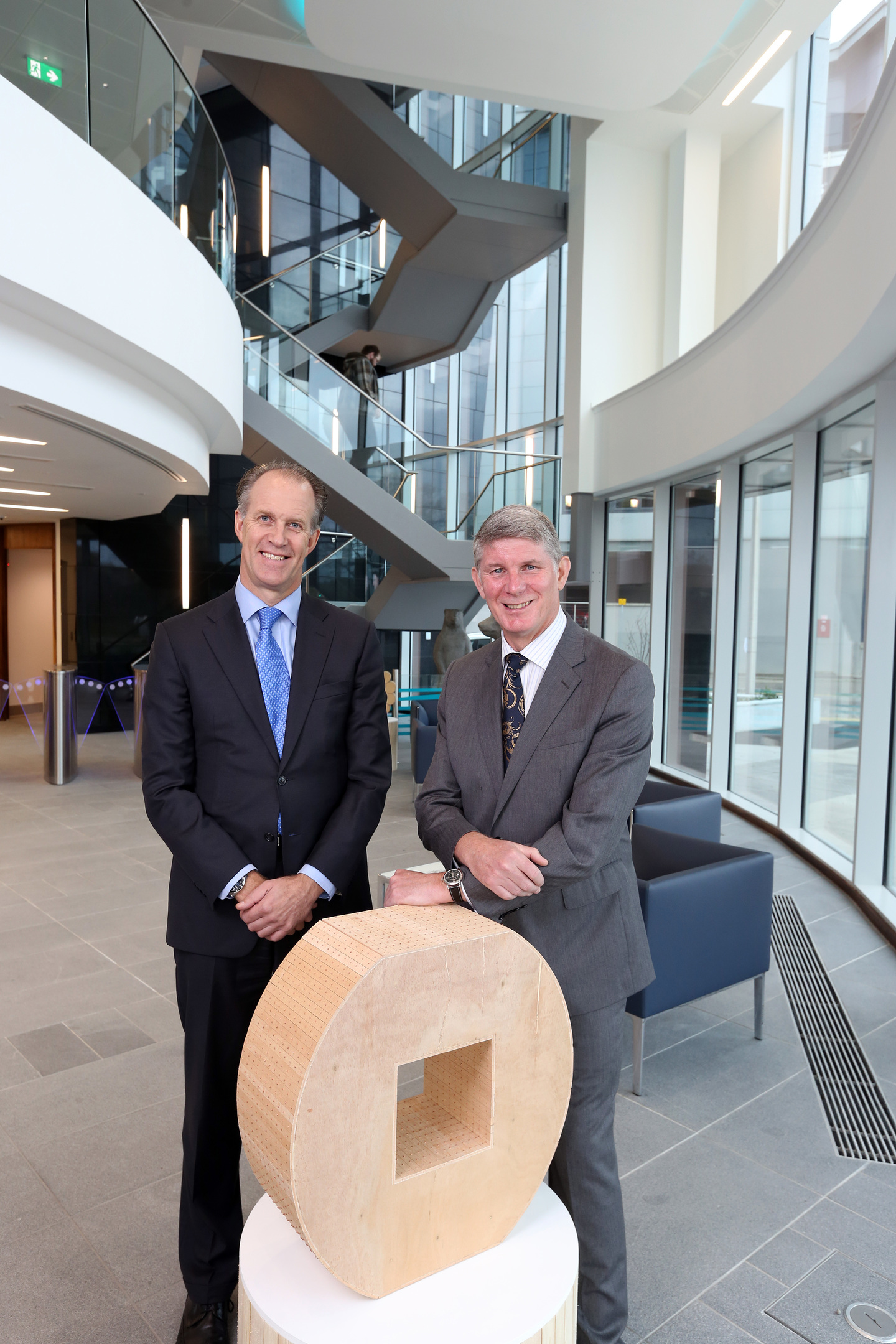 Ruud Zoon, managing director of GDF SUEZ E&P (left) and Rob Buchan, Aberdeen General Manager GDF SUEZ E&P at the new Aberdeen office.