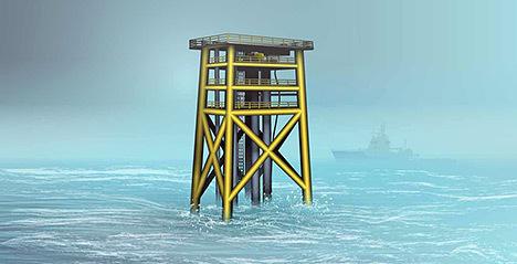 Statoil have chosen an unmanned wellhead platform