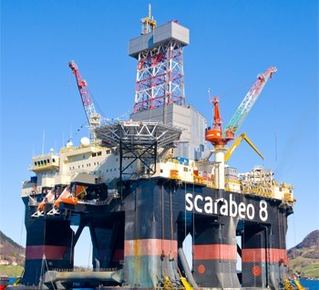 The Scarabeo 8 semi-submersible drilling rig