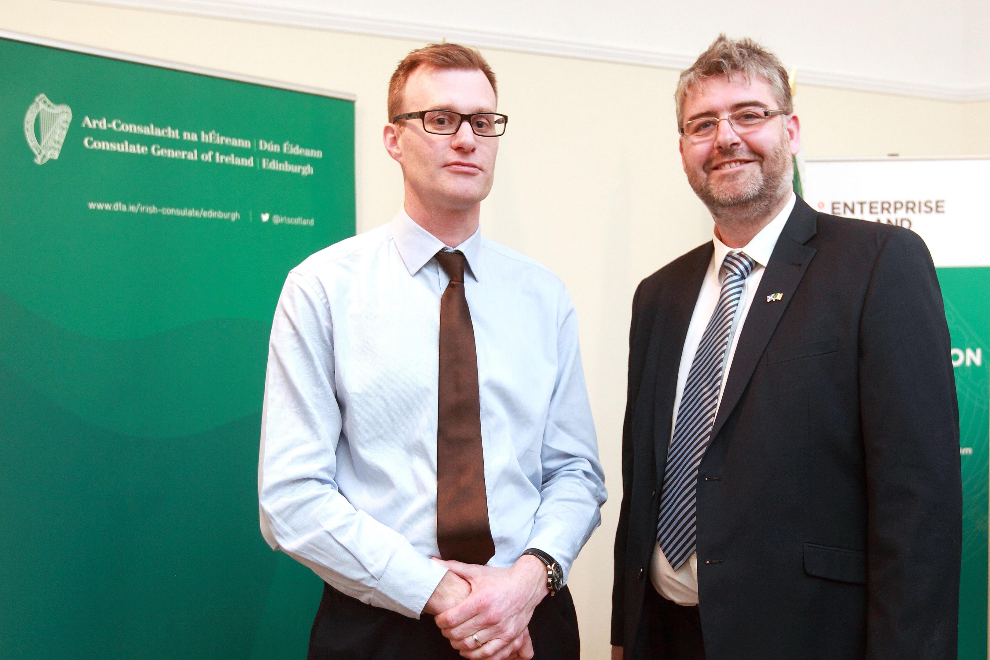 Alan Keogh (left) and Gordon Robertson