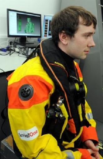 The Northsea offshore workers scanning project at RGU, Aberdeen. In the picture is P J Barron, PHD research student.