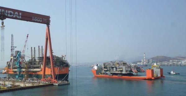 he first of the giant Clair Ridge modules  is on its way from South Korea to the UK North Sea