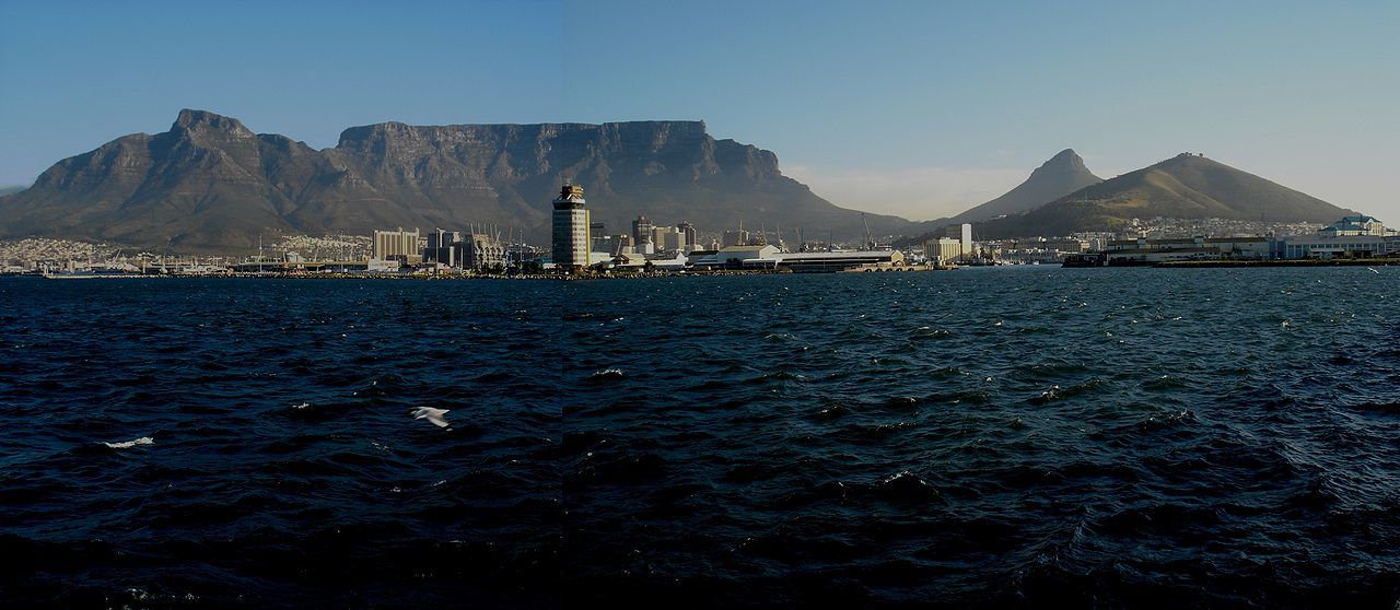 A view of Table Mountain from offshore, Cape Town. Picture by Julien Carnot
