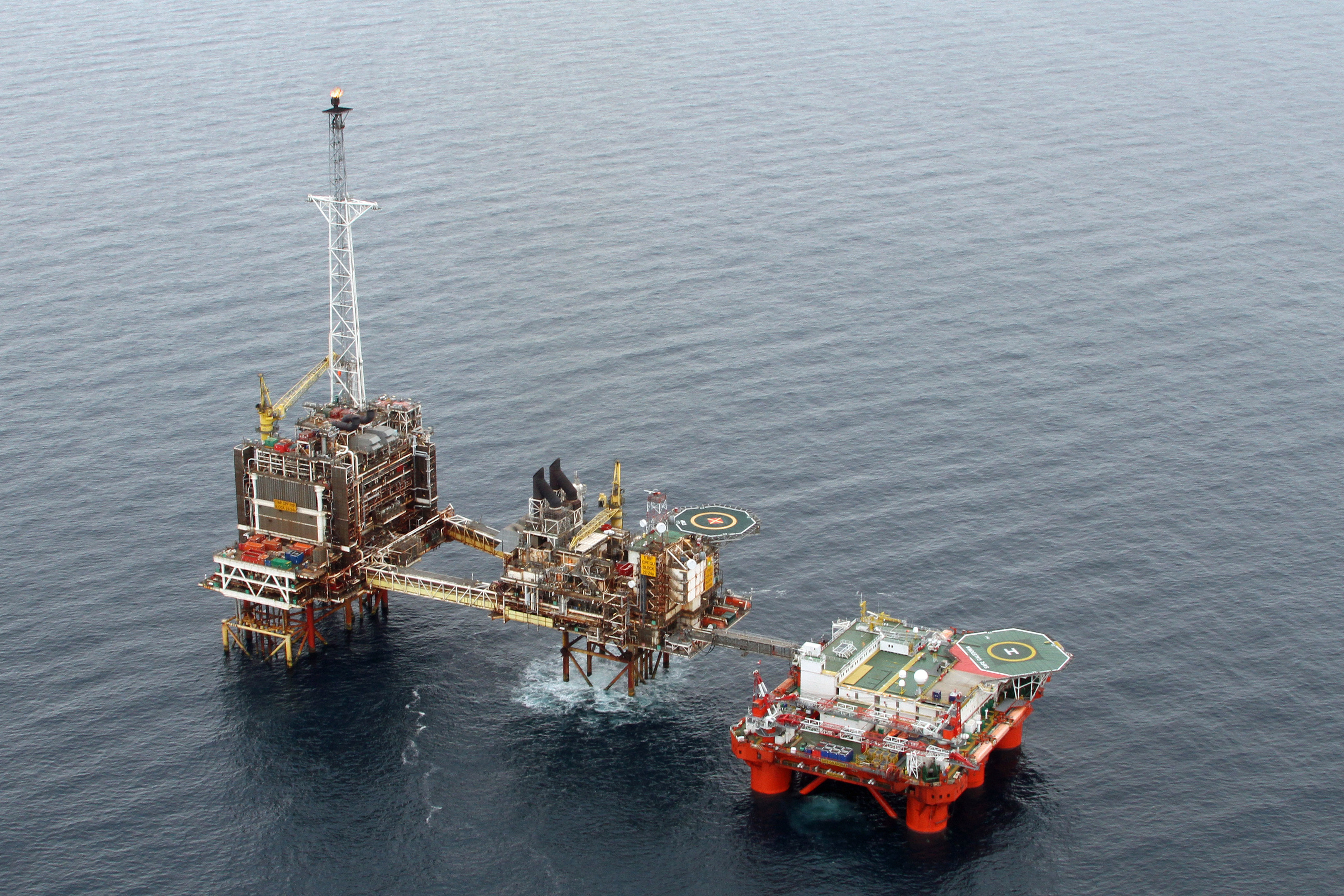 The Safe Caledonia (right) pictured with BP's ETAP platform