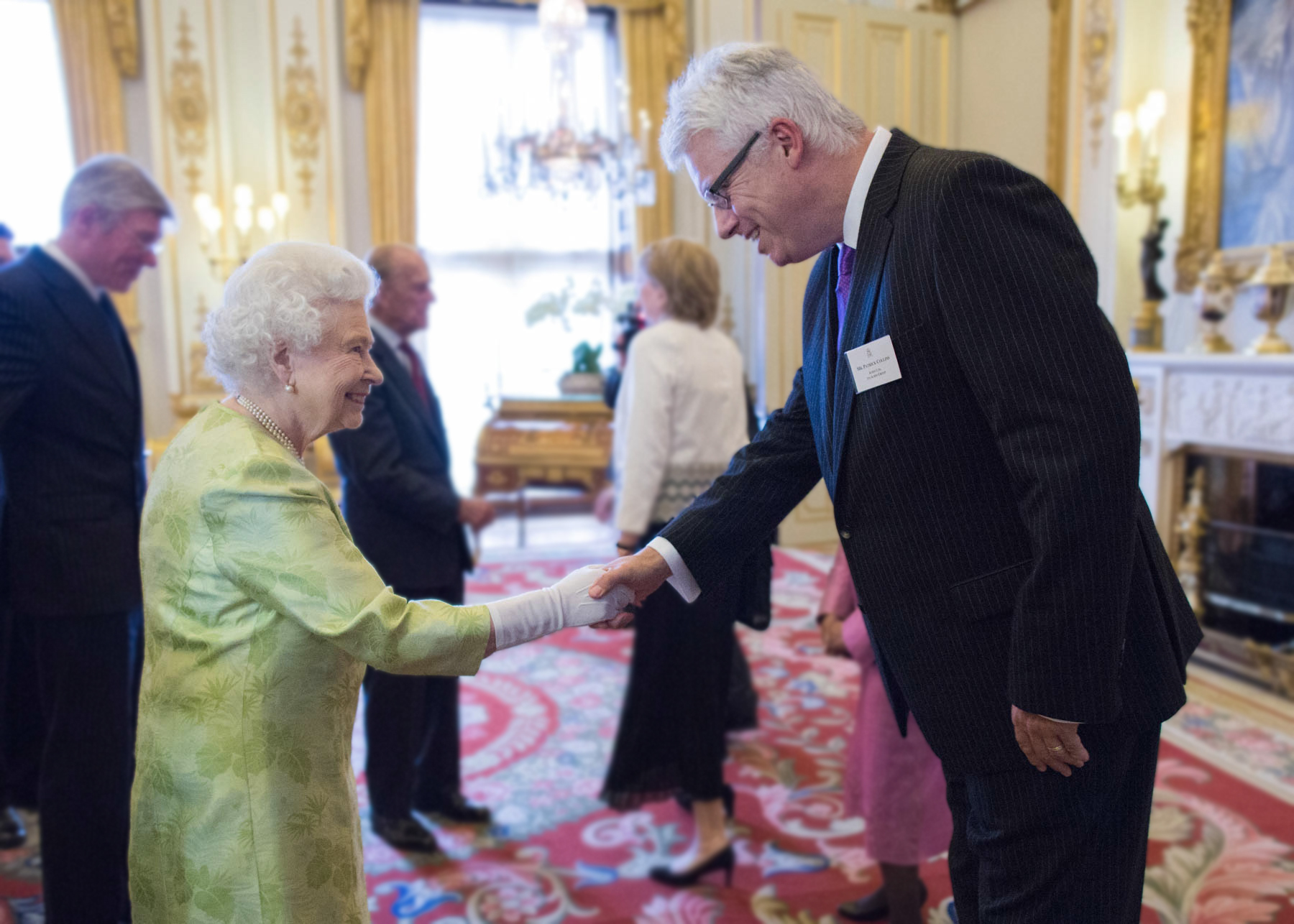 Aubin CEO Paddy Collins meeting the Queen in June.