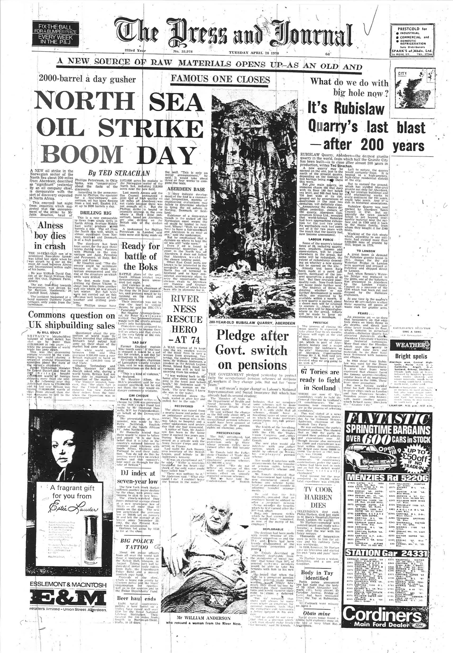 The front page from April, 1970