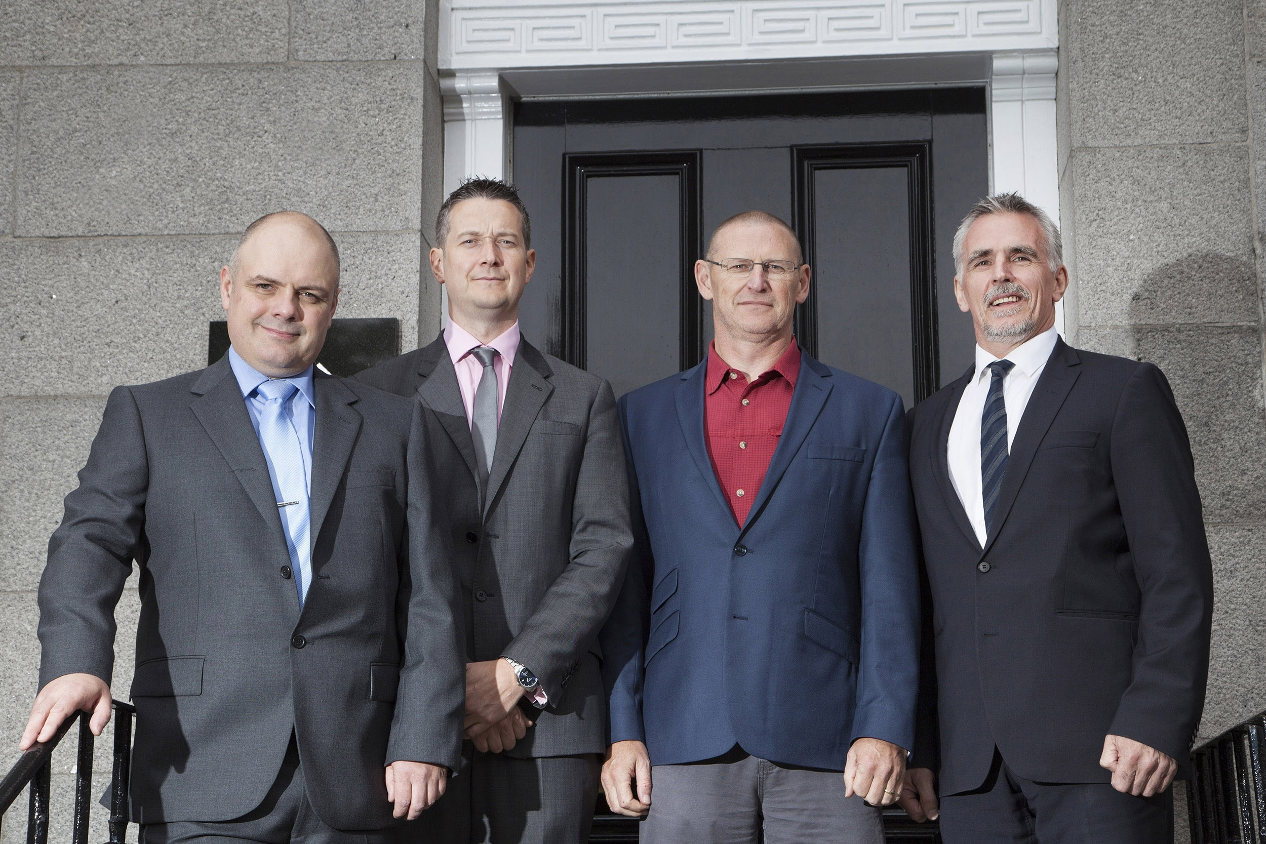 Board of the just created new Exceed subsidiary:    (L-R) Calum MacDonald (well engineering & operations director), John Anderson (commercial director -wells), Al Brockie (head of well management) & Ian Mills (MD)