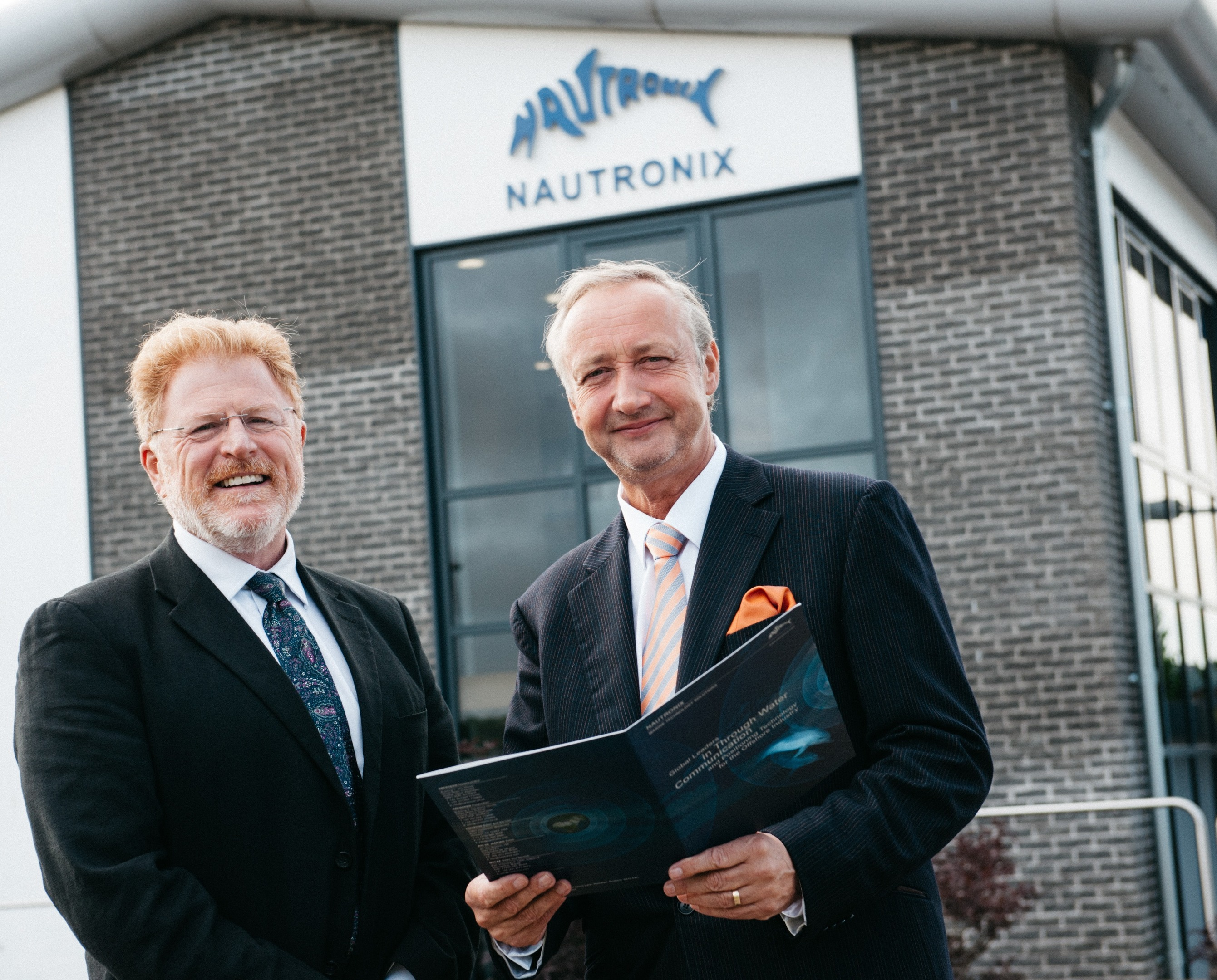 Proserv, which acquired Nautronix in 2015, has sold the business to Imenco. Pictured is David Lamont, former CEO of Proserv (l), Mark Patterson, Nautronix