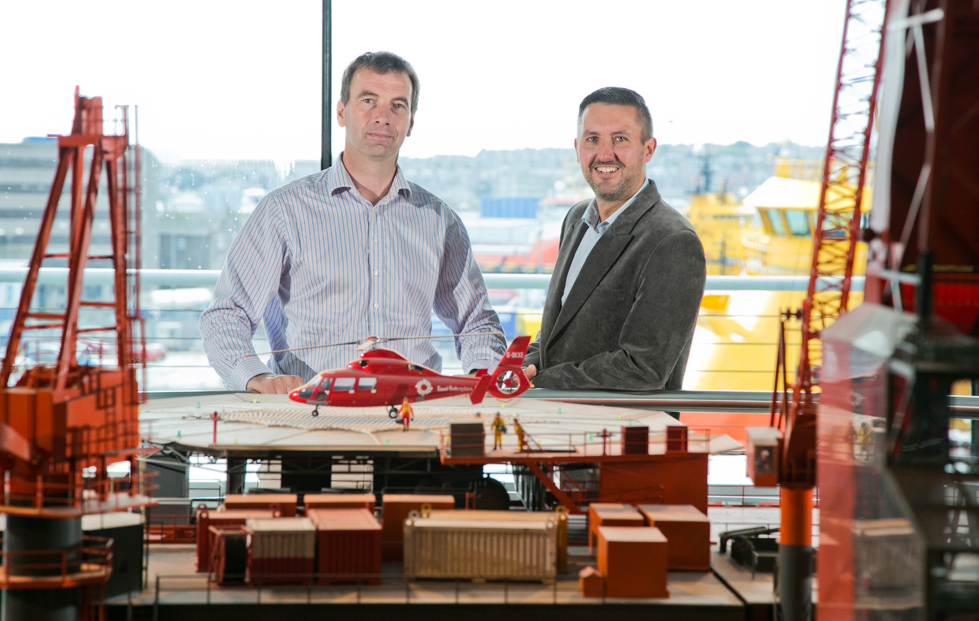 Well-Sense's leadership team: Dan Purkis, technology director (left) and Paul Higginson, customer solutions and support director
