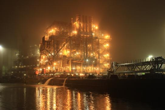 The topside for Marathon Oil's new Alba B3 platform