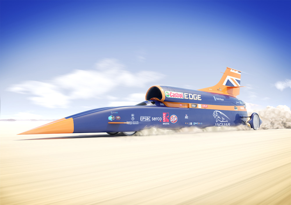 Richard Noble is the driving force behind 1,000mph Bloodhound supercar. Flock and Siemens.