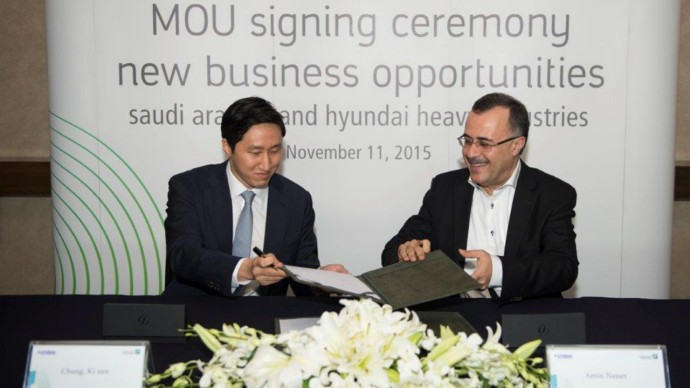 Saudi Aramco signed a deal with HHI