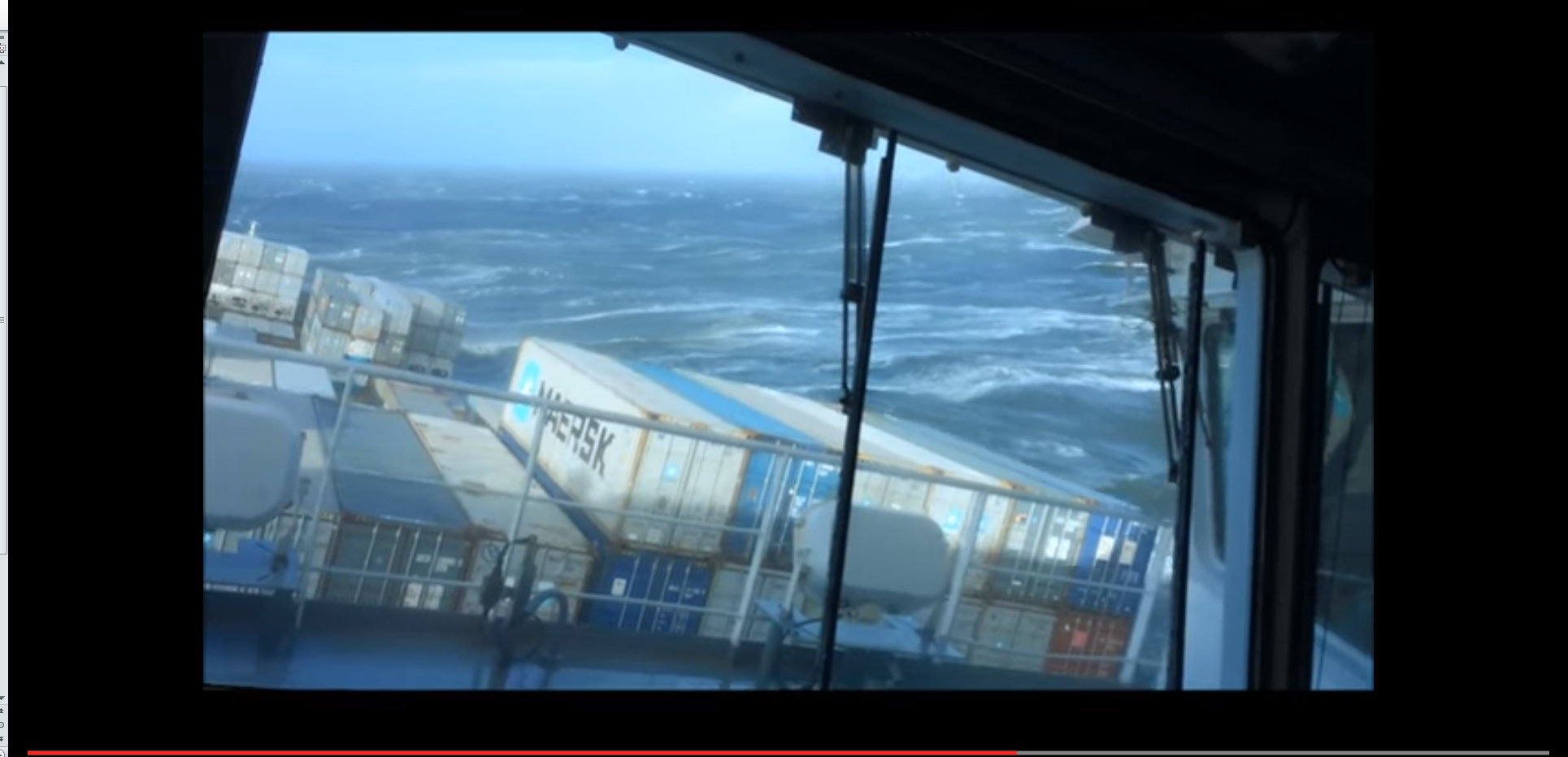 Choppy waves hit this vessel in the North Sea