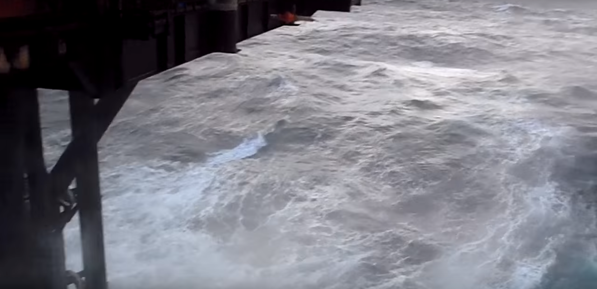 Video: Huge waves have been captured in the North Sea