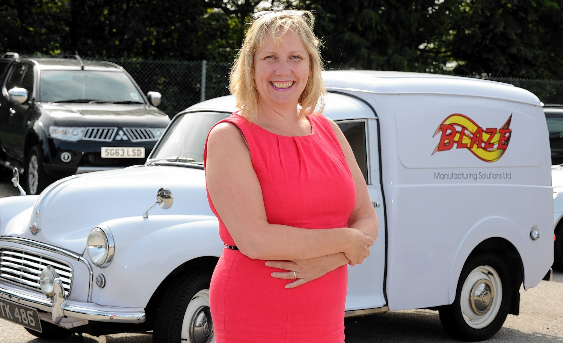 Director, Ann Johnson at Blaze Manufacturing Solutions, Laurencekirk. Picture by JIM IRVINE       28-7-14   .