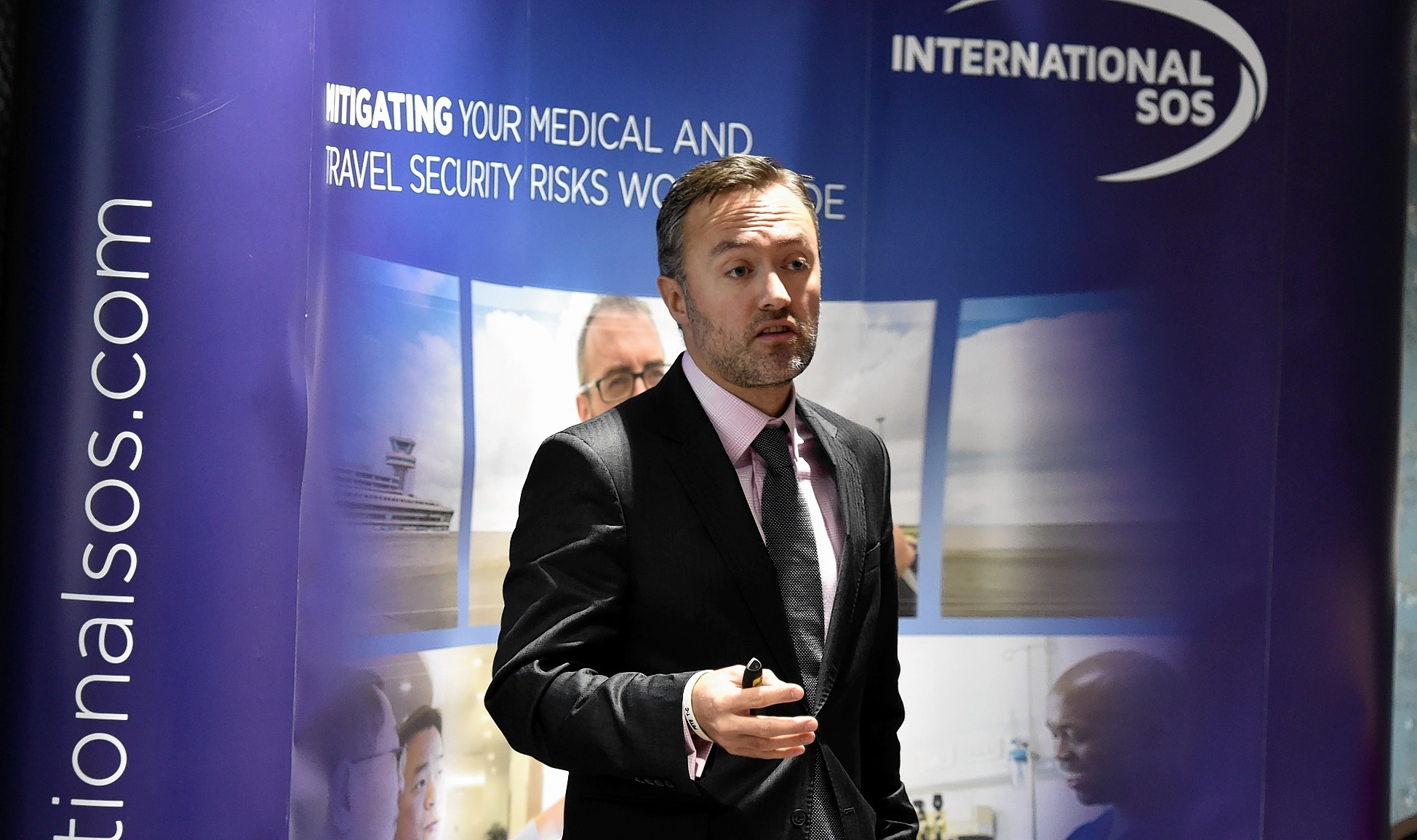 Peter Cooper, Regional Security Manager UK and Ireland, Information and Tracking, International SOS. Picture by COLIN RENNIE
