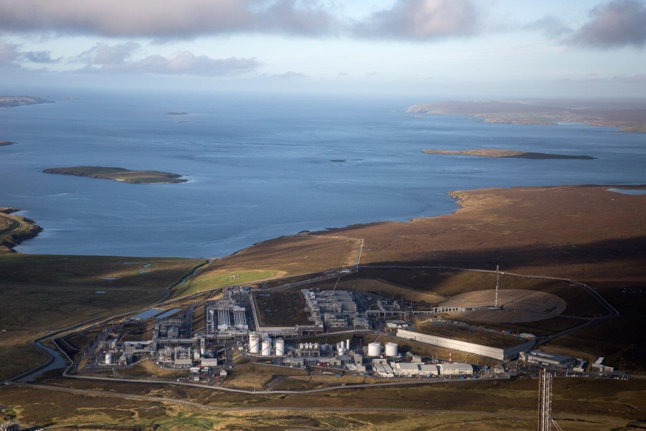 Shetland Gas Plant, which takes gas produced from the Greater Laggan Area.