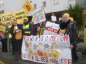 Demonstrators have been gathering on the first day of the Cuadrilla appeal