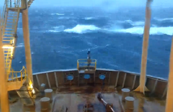 Huge waves have been captured on film. Footage credit of fourfourphotography.