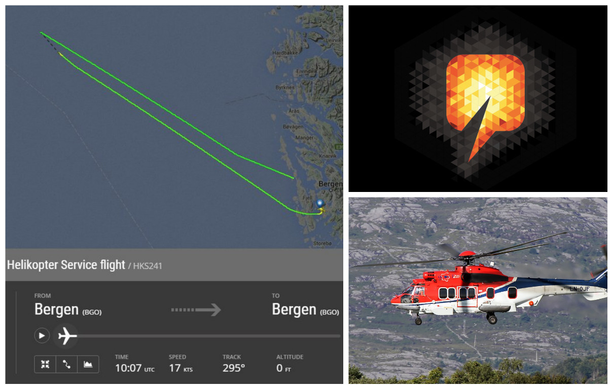A helicopter crash into the North Sea on Friday.