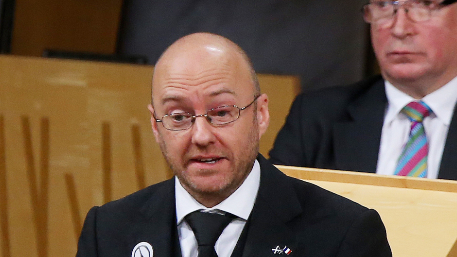 Patrick Harvie is leader of the Scottish Green Party